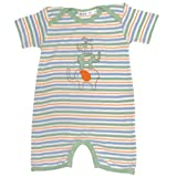 Under the Nile Short Sleeve Lap Shoulder Romper, Size Newborn