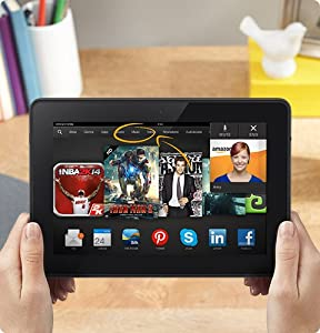 """Kindle Fire HDX 8.9"""", HDX Display, Wi-Fi and 4G LTE, 16 GB - Includes Special Offers (Previous Generation - 3rd) by Amazon"""