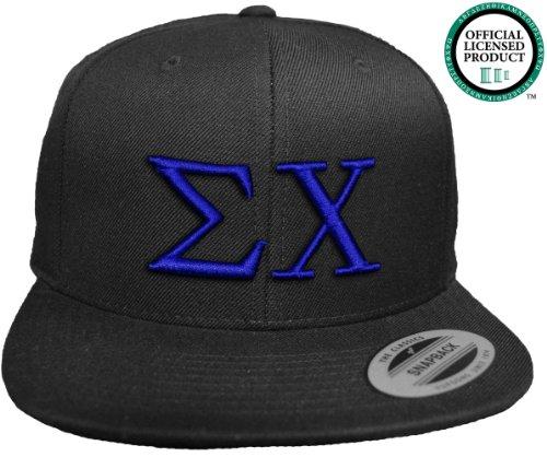 sigma-chi-flat-brim-snapback-hat-royal-letters-sig-chi-sigs-fraternity-cap