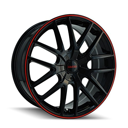 Touren TR60 3260 Wheel with Black Finish with Red Ring (18x8