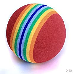 Generic 10x Golf Swing Training Indoor Backyard Practice Balls Rainbow Sponge Foam Ball