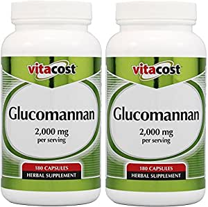 Amazon.com: Vitacost Glucomannan - Konjac Root -- 2000mg