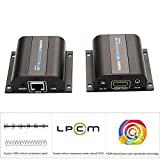 AGPtek®  1080p/60mまでHDMI延長器 HDCP対応 UTPケーブル3D&1080P支持 CAT6、CAT6A、CAT7 日本語取扱書付き