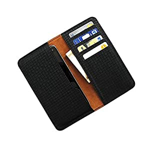i KitPit : PU Leather Wallet Flip Pouch Case For iBall 5h Quadro  BLACK  available at Amazon for Rs.249