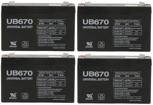 Power Patrol SLA0925 Replacement Battery 6V 7Ah - 4 Pack dli90b replacement 3 6v 1270mah battery pack for olympus tough tg 1 ihs white black