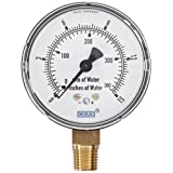 WIKA 9851682 Capsule Low Pressure Gauge, Dry-Filled, Copper Alloy Wetted Parts, 2-1/2