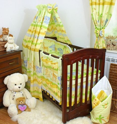 Safari 11 pieces bedding set Cot bed (70cm x 140cm)
