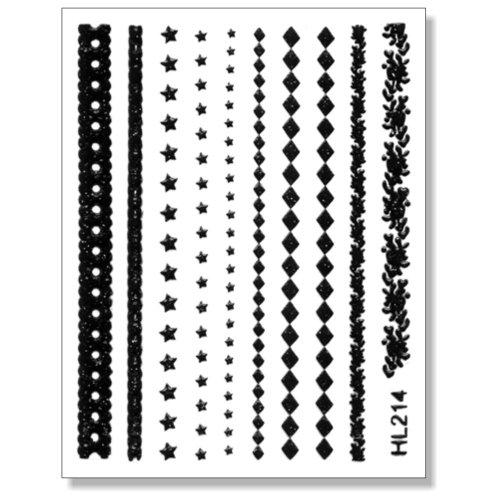 3D Sticker Borten schwarz 203-12 selbstklebende 3D-Borten
