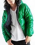 シレーフルジップ中綿ダウンジャケット ダウン パーカー 中綿ジャケット メンズ Mサイズ グリーン