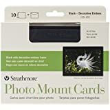 Strathmore Photo Mount Greeting Cards Black Pack Of 10