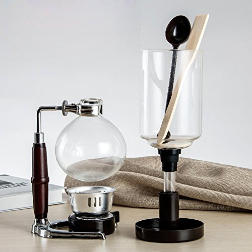 DecentGadget Coffee Syphon / Siphon Coffee Vacuum Glass Coffee Maker 5 Cup Syphon Maker, A Coffee Siphon Brewer for Coffee Beans Best, 500ML (Glass Siphon Coffee Maker compare prices)