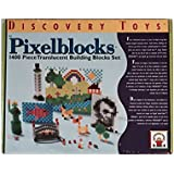 Pixelblocks 1400 Piece Translucent Building Blocks Set