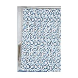 Carnation Home Fashions Circles Extra Long Printed Fabric Shower Curtain, 72-Inch by 84-Inch