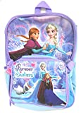Disney Frozen Anna and Elsa Purple Large Backpack with Lunch Kit