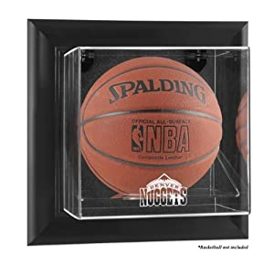 Denver Nuggets Framed Wall Mounted Logo Basketball Display Case by Mounted Memories