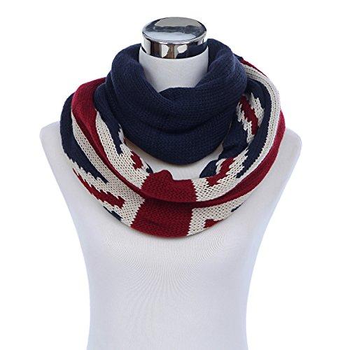 Premium UK British Flag Union Jack Winter Knit Infinity Loop Circle Scarf (British Flag Union Jack compare prices)