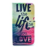 Luv You Samsung Galaxy S5 SM-G900 Case,Live Life Print Series Style LV-YO Design Style Beautiful High Quality Luxury Premium PU Leather Feature Flip Magnet Wallet Stand Smart Case Cover Protective With ID Credit Card Holder Slots Cute TPU Case Fit For Samsung Galaxy S5 SM-G900 NEWEST Model(Package:3D Crystal Diamond 3.5mm HeardPhone Dust Plug,Screen Skin Protector And Stylus Touch Pen)