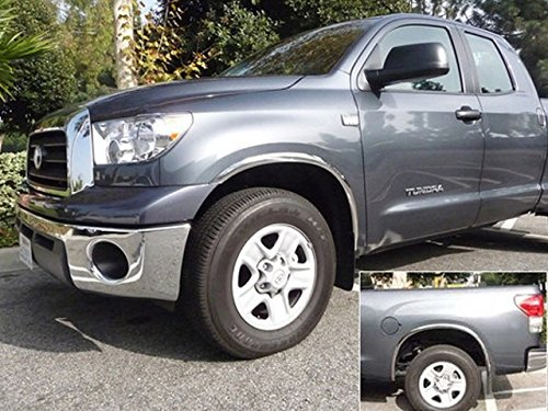 """TUNDRA 2014-2016 TOYOTA (4 Pc: Stainless Steel Fender Trim - Clip on or screw in, hardware included - 2"""" wide (Must remove stock splash guard, install, then put back on), 2/4-door) WZ14145:QAA"""