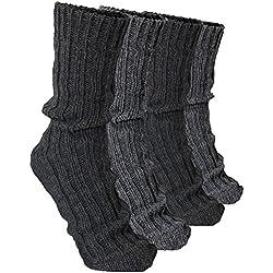 BRUBAKER 4 Pairs Thick Alpaca Winter Socks 100% Alpaca