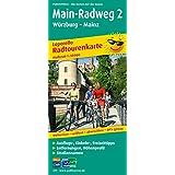 Radwanderkarte Main-Radweg 2 Würzburg-Mainz: Mit Ausflugszielen, Einkehr- & Freizeittipps, wetterfest, reissfest, abwischbar, GPS-genau. 1:50000