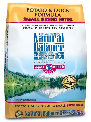 Natural Balance Dry Dog Food, Grain Free Limited Ingredient Diet Small Bites Duck and Potato Formula, 12.5 Pound Bag