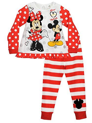 Disney Minnie Mouse - Pigiama a maniche lunghe per ragazze - 2 - 3 anni