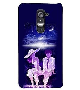 PRINTSWAG MOON LIGHT COUPLE Designer Back Cover Case for LG G2
