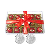 Chocholik Luxury Chocolates - 15pc Attractive Treat Of Truffles With 5gm X 2 Pure Silver Coins - Gifts For Diwali