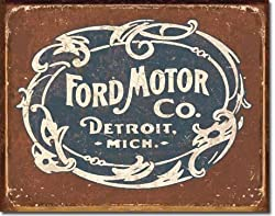 Ford - Historic Logo Metal Tin Sign 16&quot; X 12.5&quot;