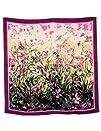 Dahlia Womens 100 Square Silk Scarf  Laurent Monteil Irises