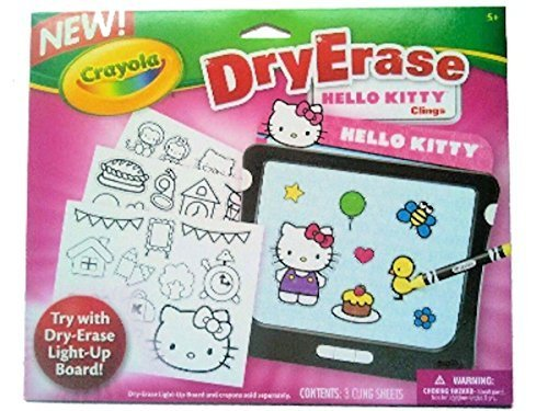 Crayola Dry Erase Hello Kitty Clings - 1