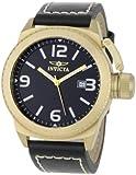 Invicta Men's 1111 Corduba Collection Black Dial Black Leather Watch