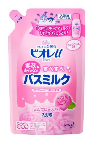 ビオレu バスミルク ミルクローズ詰替 480ml
