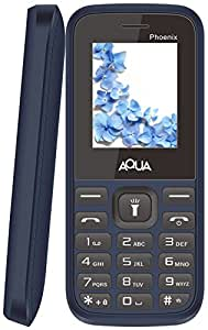 Aqua Phoenix Dual SIM Basic Mobile Phone Blue