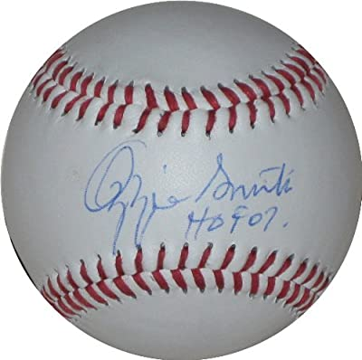 Ozzie Smith, St Louis Cardinals, San Diego Padres, Signed, Autographed, Baseball, a COA with the Proof Photo of Ozzie Signing Will Be Included