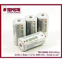 Tensai TR-C4000 recargable de Níquel metal hidruro BABY C LR14 UM2 MN1400 4000 mAh Akku 1.2V , 4 pilas
