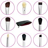 Eye Makeup Brushes with Free Case Includes 8 Must Have Eyeshadow & Eyeliner Brush Set: Pencil, Tapered Blending, All Over Shader, Precision Eye Liner, Angled Shading, Flat Definer, Blending, Crease