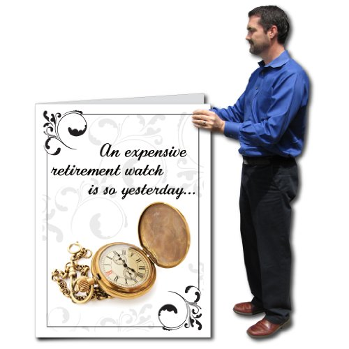 3'x4' Giant Retirement Gift Card (Watch), W/Envelope