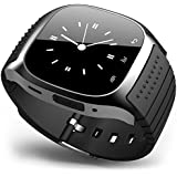 Fashion R-Watch M26 Bluetooth Smart LED Light Display Watch with Dial / Call Answer / SMS Reminding / Music Player / Anti-lost / Passometer / Thermometer for Samsung / HTC + More (Black)