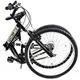 "Stowabike 26"" MTB V2 Folding Dual Suspension 18 Speed Shimano Gears Mountain Bike"