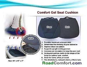 Comfort All Season Gel Seat Cushion for Car, Office, Wheelchair