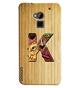 Omnam Single Name Stylish Alphabet K Printed Designer Back Cover Case For HTC One Max
