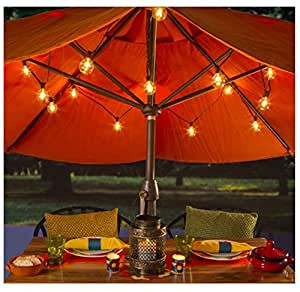 Amazon.com : Led Clear Globe Light Strand Indoor/ Outdoor 15mmx25 lights 11.5 Feet Long Black ...