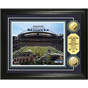 CenturyLink Field Gold Coin Photo Mint from The Highland Mint