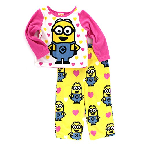 Despicable Me Minion Toddler Pink Fleece Pajamas