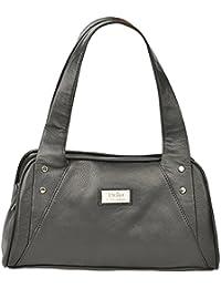 World Class Leather Women's Handbag (WCL1391A, Black)