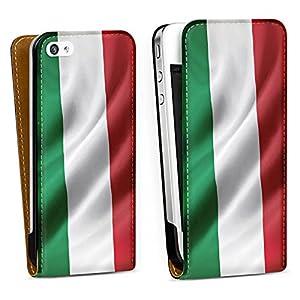 Handy Design Tasche Hülle Case Italien iPhone 4/4S - DesignTasche Downflip black - Apple