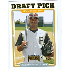 Andrew McCutchen baseball card 2005 Topps Traded #UH329 (Pittsburgh Pirates) rookie...