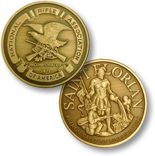NRA Seal - St. Florian- Bronze Antique