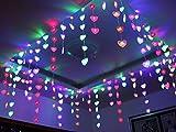 3x0.7m 60LED Outdoor Christmas Xmas String Romantic Heart Shape Net Light Fairy Wedding Curtain Light AC220V